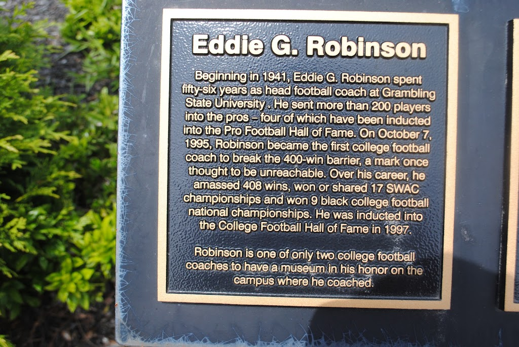 Beginning in 1941, Eddie G. Robinson spent fifty-six years as head football coach at Grambling State University. He sent more than 200 players into the pros -four of which have been inducted into the ...