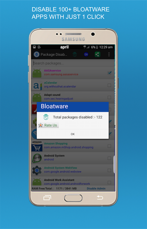 Package Disabler Pro (Samsung) Screenshot 1