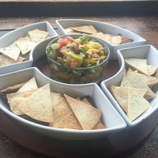Mango Avocado Salsa with Baked Tortilla Chips