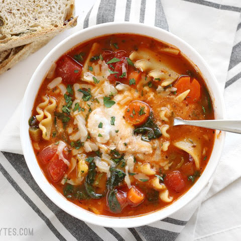 Garden Vegetable Lasagna Soup
