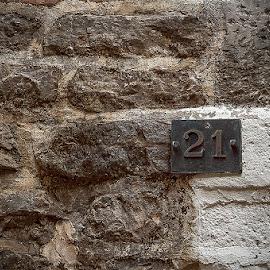 21 by Zoran Mrdjanov - Abstract Patterns ( stone, number )