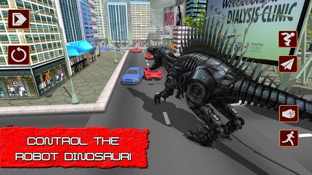 Robot Transform in Dino X-Ray apk screenshot