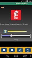 Screenshot of Radio Croatia