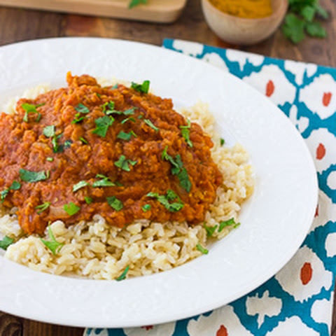 Slow-Cooker Red Curry Lentils {Gluten-Free, Dairy-Free}