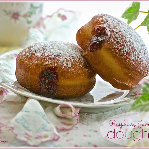 Raspberry Jam-Filled Doughnuts