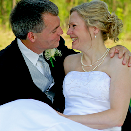 Joy! by Jane Spencer - Wedding Bride & Groom ( joy, bridal gown, wedding day, communion, bride, groom, tux,  )