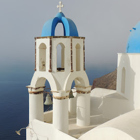 Ahh Santorini! by Di Mc - Novices Only Landscapes ( building, summer, hot, ocean, architecture, heat, sun, santorini,  )