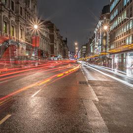 Ghost bus by Selaru Ovidiu - City,  Street & Park  Street Scenes ( london )