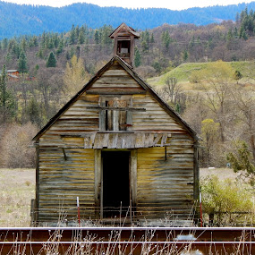 School and Church by Sherry Gardner - Buildings & Architecture Decaying & Abandoned ( norcal, hilt, historical )