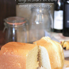 Polynesian Sweet Bread {Bread Machine Recipe}