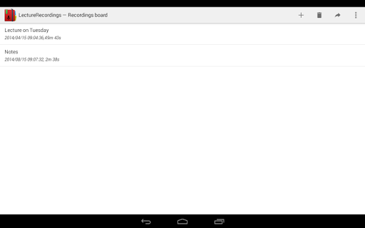 LectureRecordings - screenshot