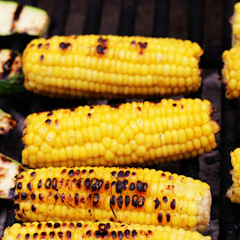 by Asya Atanasova - Food & Drink Cooking & Baking ( grill, vegetables, cooking, yellow, grilled, corn )