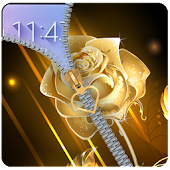 App Golden Rose Zipper Lockcreen: Rose lock screen APK for Windows Phone