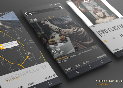 AlblacK for Klwp- screenshot thumbnail