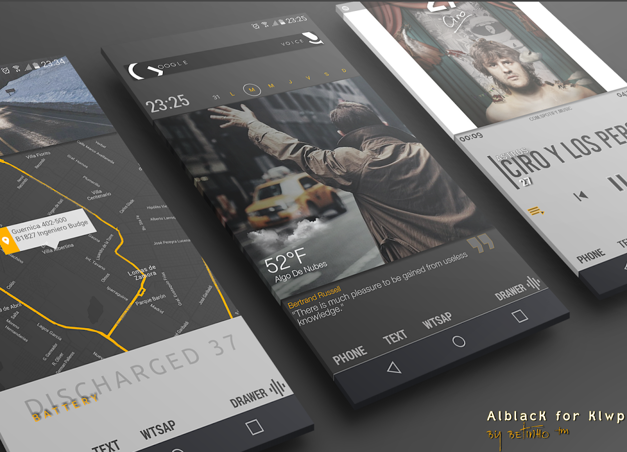 AlblacK for Klwp Screenshot 0