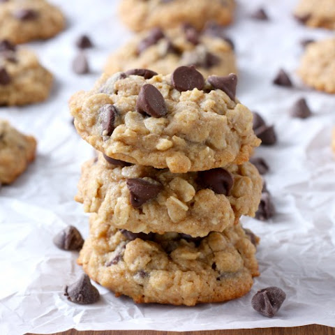 Chocolate Chip Honey Oatmeal Cookies
