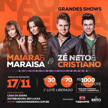 Dia 17/11 Shows em Ji-Paraná