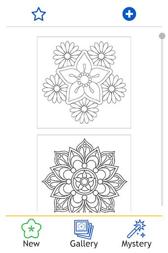 Flowers Mandala coloring book - screenshot