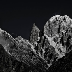 Lady Finger Peak, Hunza - Pakistan by Yuni  Khan - Black & White Landscapes ( #ladyfingerpeak #pakistan #unseenpakistan #hunza #yunikhan,  )
