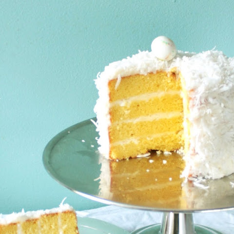 Meyer Lemon Cake with Coconut Frosting!