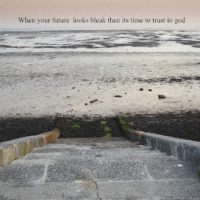 Southend on sea looking bleak by Mike Tricker - Typography Quotes & Sentences ( religion, tags, god, bleak, words, sad, beach )