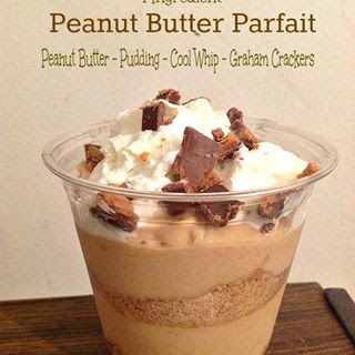 Peanut butter Parfait Only 4 Ingredients!