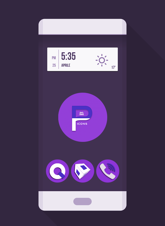 OJ Purple - Round Icon Pack Screenshot 0