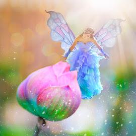 Lotus Fairy by Chandra Irahadi - Digital Art People