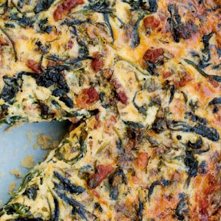 Deep-dish Gruyère, Spinach And Bacon Quiche With Walnut Pastry