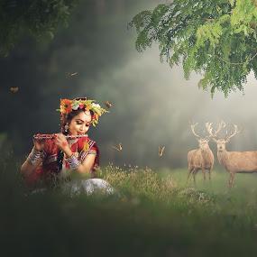 by Abhijeet Sarkar Auntu - Digital Art People