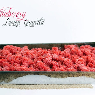 Strawberry Lemon Granita