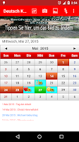 Screenshot of Deutsch Kalender 2015