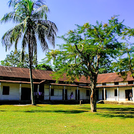 Old School  by Dhritika Saikia - City,  Street & Park  Neighborhoods ( #school #assam #education #india #histroy )