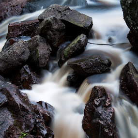 Danska fallen by Martin Hedlund - Nature Up Close Water ( landscape water danska fallen rock river nature long exposure long exposure nikon d90 )