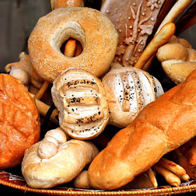 Bagels and breads by Yuliani Liputo - Food & Drink Ingredients ( bread, food, plate, bagel )