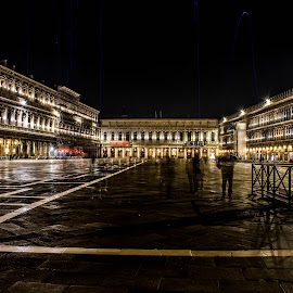 St. Mark's Square, Venice - a cold night by Hariharan Venkatakrishnan - City,  Street & Park  Night