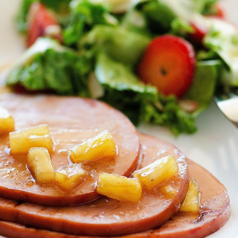 Crock Pot Pineapple-Ginger Glazed Ham