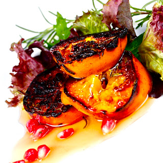 Charred Persimmon Salad with Agave Nectar Vinaigrette