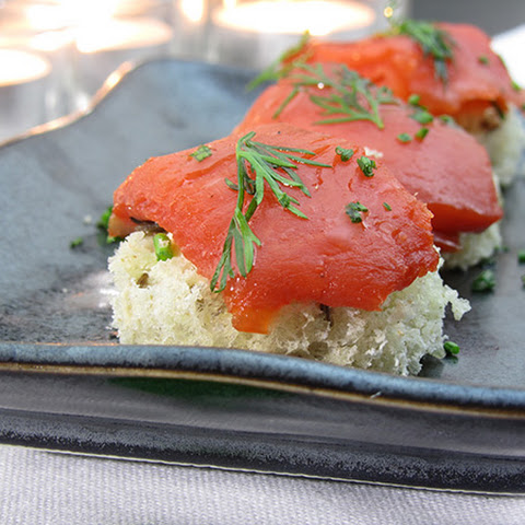 Smoked Salmon Canapes- Old Family Secret To Easy Appetizers!