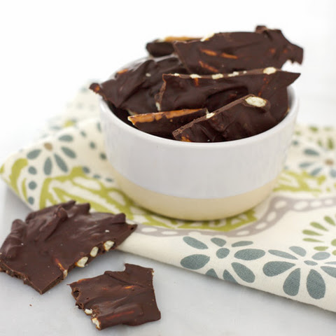 Dark Chocolate Pretzel Bark