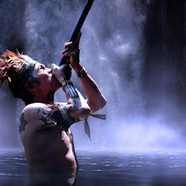 Dayak Tribe by Suloara Allokendek - People Portraits of Men ( indonesia, tribe, hunting, borneo, dayak )