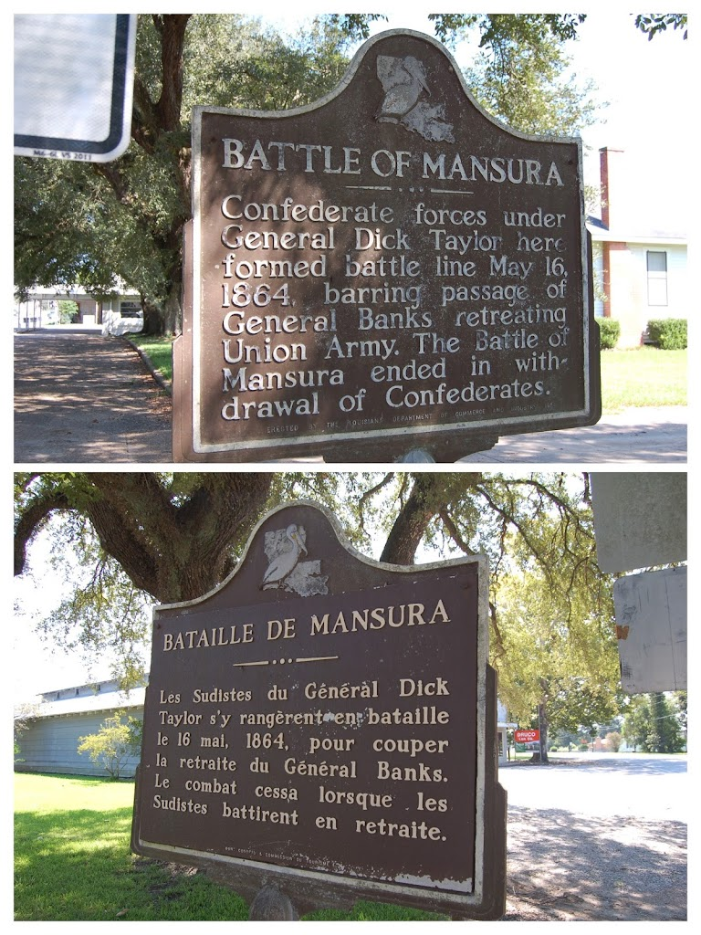 English:Confederate forces under General Dick Taylor here formed battle line May 16, 1864, barring passage of General Banks' retreating Union Army. The Battle of Mansura ended in withdrawal of ...
