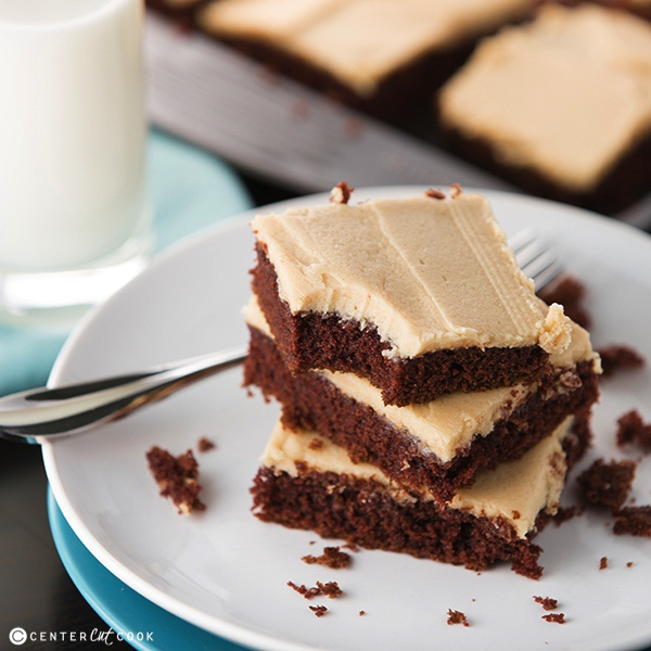 Chocolate Sheet Cake with Peanut Butter Frosting Recipe | Yummly