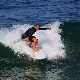 Sabrina in motion by Gérard CHATENET - Sports & Fitness Surfing