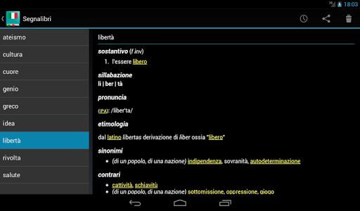 Italian Dictionary - Offline screenshot 16
