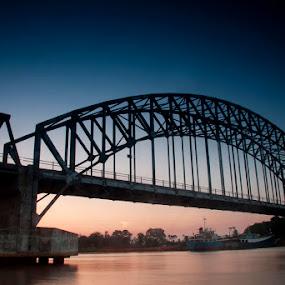 sunset at the bridges by Anton Adhitian Nurgraha - Buildings & Architecture Bridges & Suspended Structures