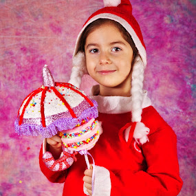 Sweet little Miss Santa by Nicu Buculei - Babies & Children Child Portraits ( girl, sweet, xmas, christmas, children, kids, smile, portrait,  )