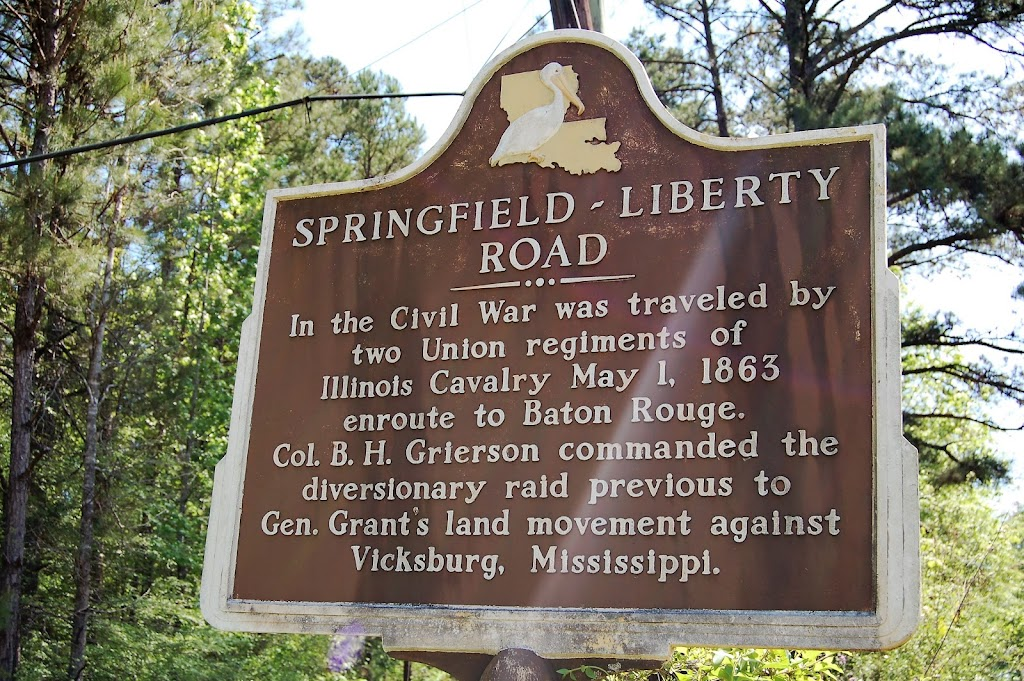 In the Civil War was traveled by two Union regiments of Illinois Cavalry May 1, 1863 enroute to Baton Rouge. Col. B.H. Grierson commanded the diversionary raid previous to Gen. Grant's land movement ...