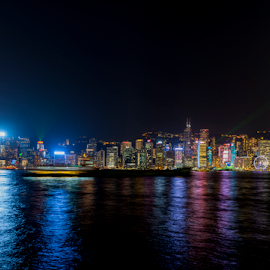 Light Show by Andy Chow - City,  Street & Park  Skylines ( hong kong, skyline, kowloon, cityscape, china, city at night, street at night, park at night, nightlife, night life, nighttime in the city )