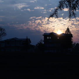 Rising sun from house by Santosh Kumar - Uncategorized All Uncategorized
